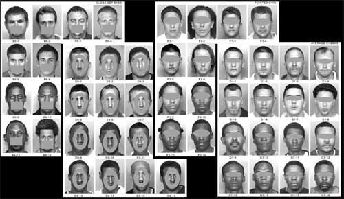 Sample pages from the Facial Identification Catalog